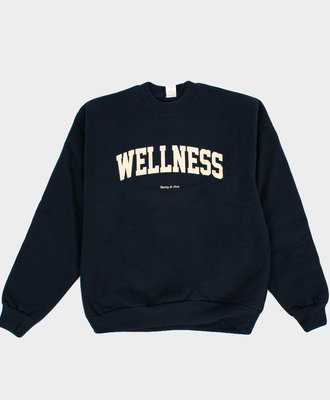 Sporty and Rich SR Wellness Crewneck Sweat Navy
