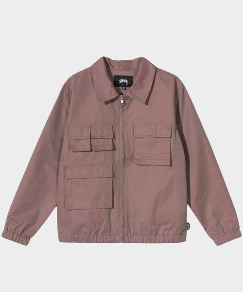 Stussy Iridescent Multi Pocket Jacket Red