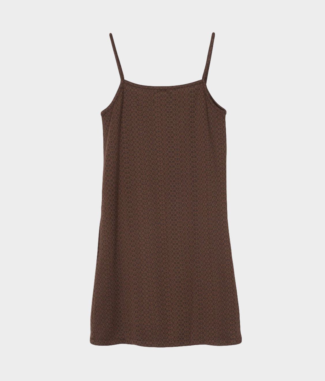 Stussy Stussy Tonal Jacquard Dress Brown