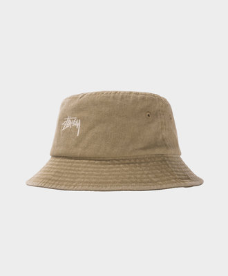 Stussy Stussy Stock Washed Bucket Hat Khaki