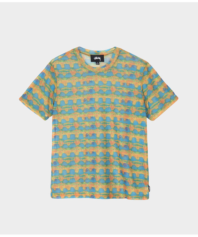 Stussy Stussy Printed Plaid Mesh Tee Yellow
