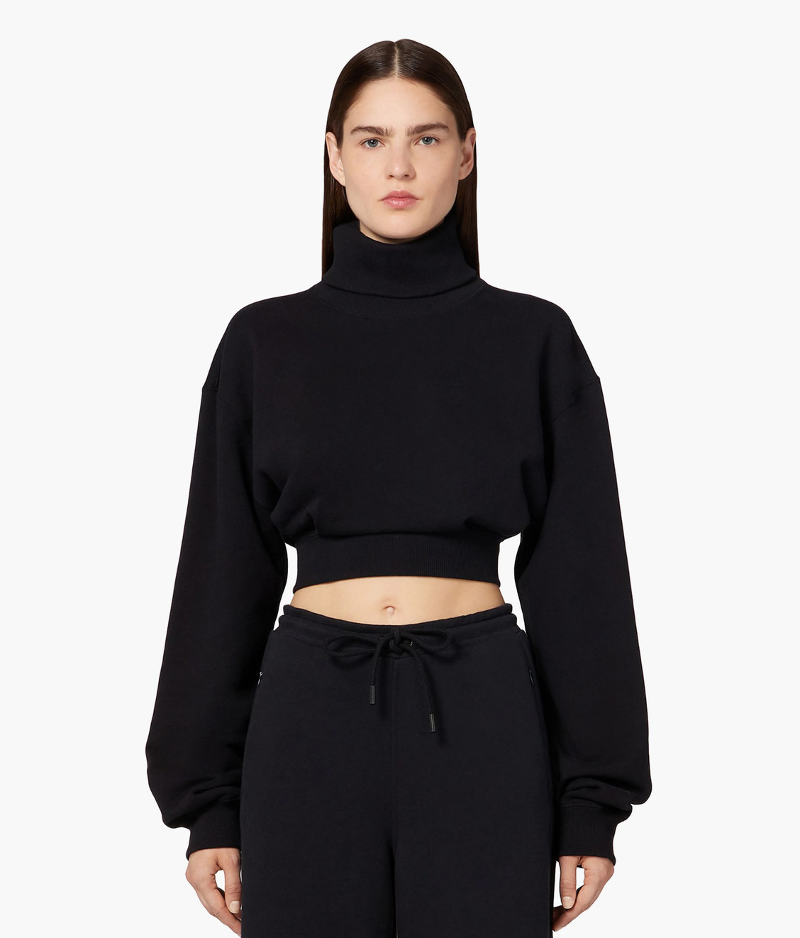 Opening Ceremony OC Turtleneck Cropped Sweatshirt Deep Smoke