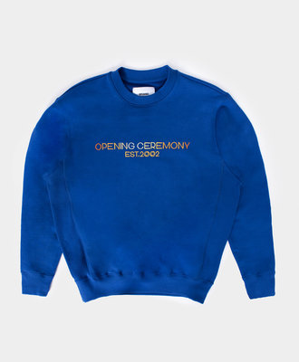 Opening Ceremony OC Embro Textlogo Loose Crew Electric Blue