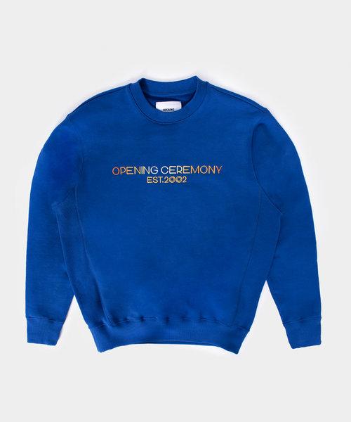OC Embro Textlogo Loose Crew Electric Blue