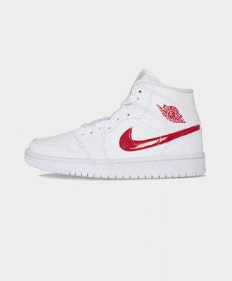 Nike Air Jordan 1 W Mid White University Red