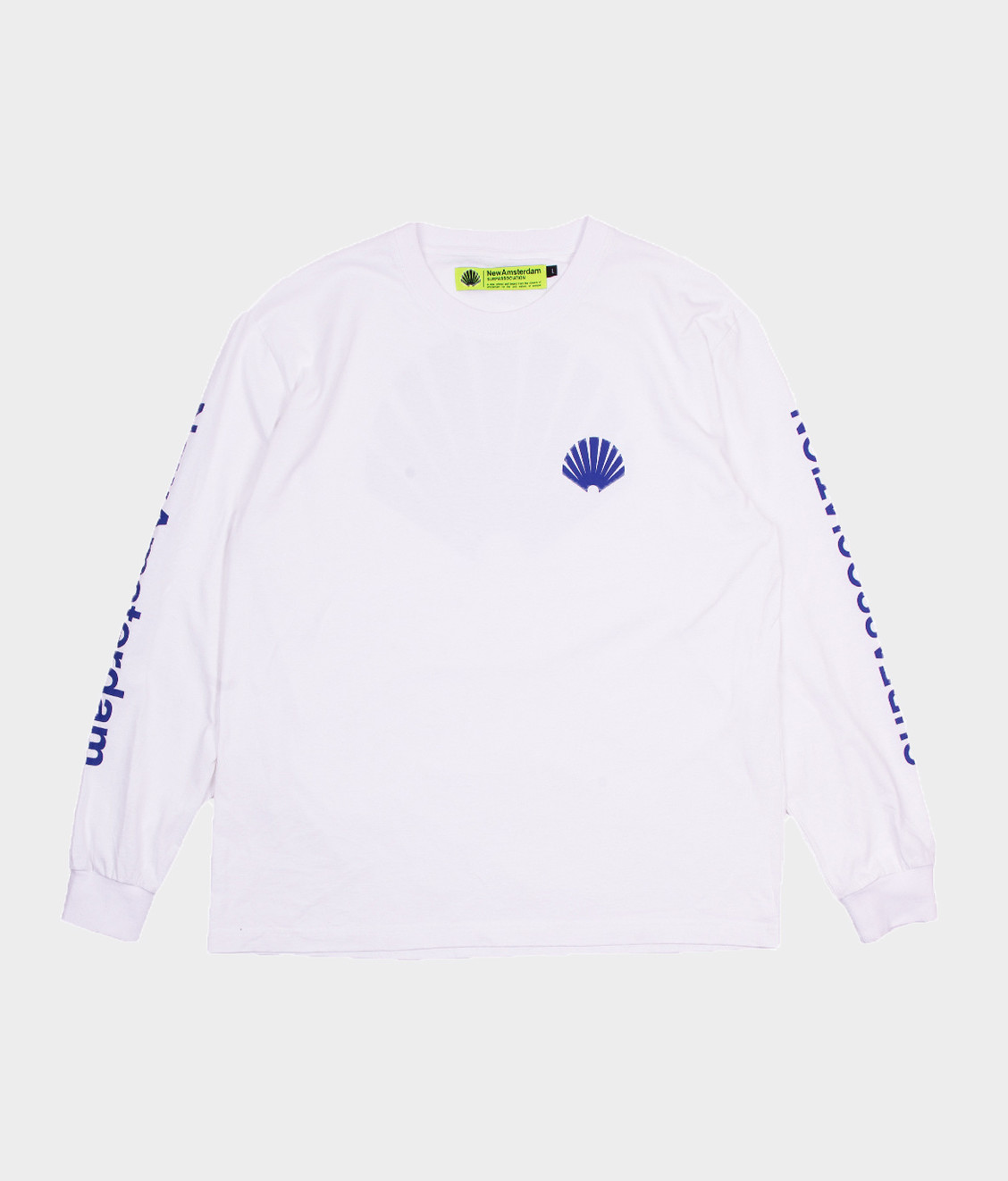 New Amsterdam New Amsterdam Logo Ls White Royal