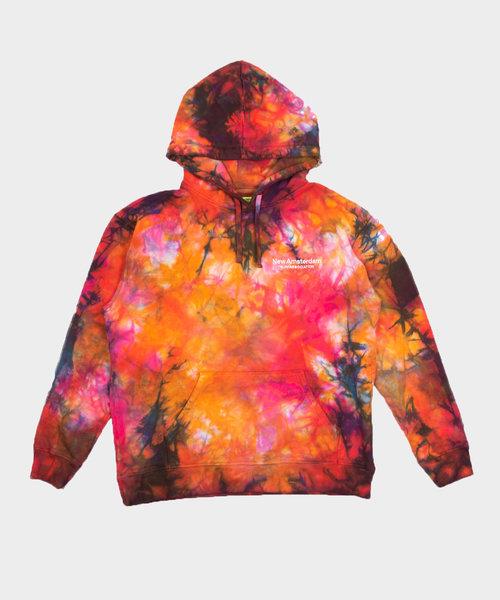 New Amsterdam Logo Hoodie Tie Dye Oil