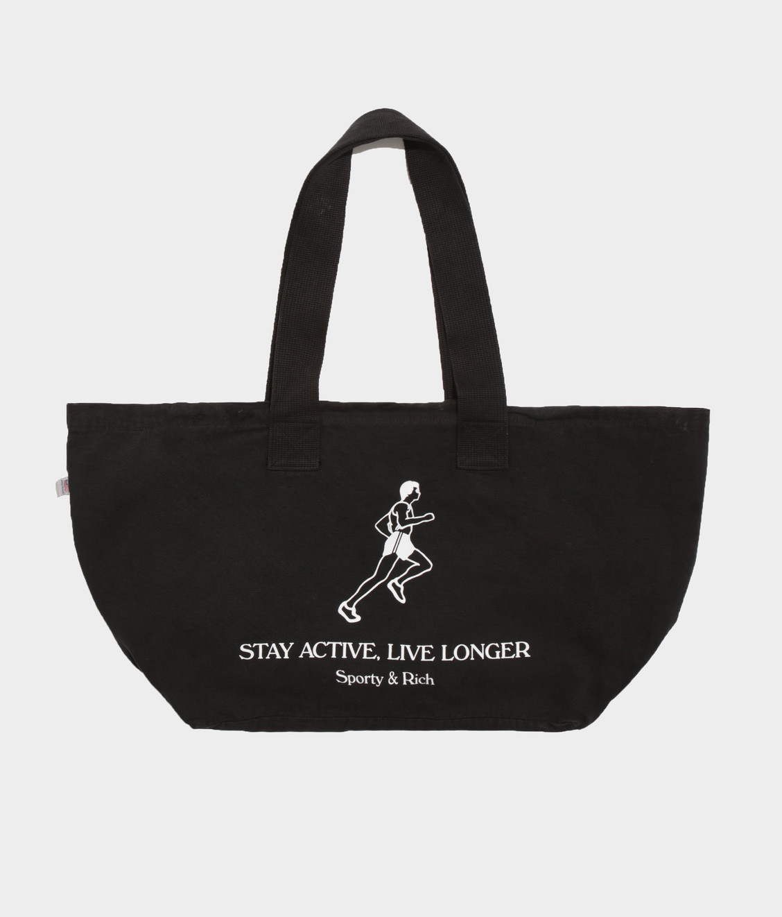 Sporty and Rich Live Longer Totebag Black