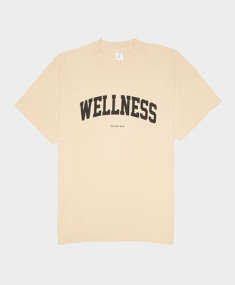 Sporty and Rich Wellness Ivy T-Shirt Cream Black