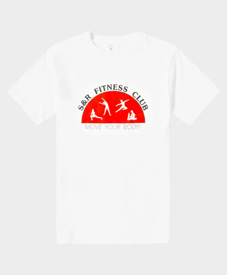 Sporty and Rich S R Fitness Club T-Shirt White Red