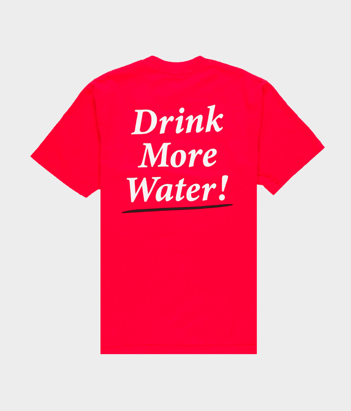 Sporty and Rich Drink More Water T-Shirt Sport Red
