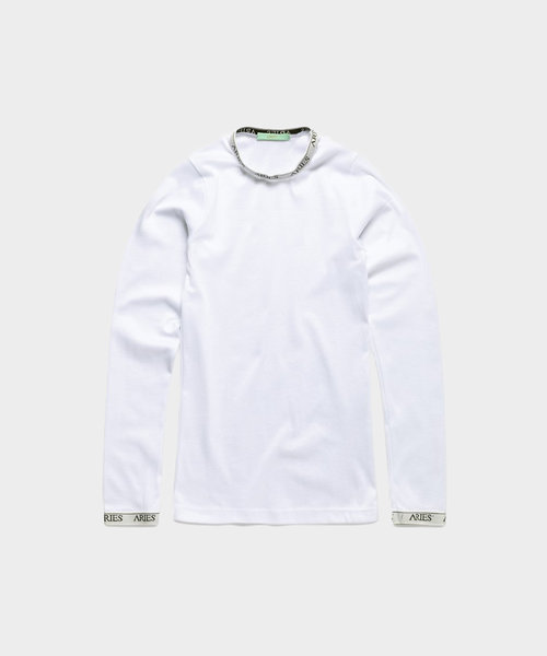 Aries Cotton Ls Top White
