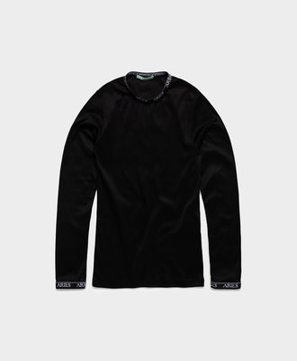 Aries Aries Cotton Ls Top Black