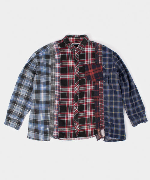 Rebuild by Needles Flannel Shirt 7 Cuts Shirt Wide