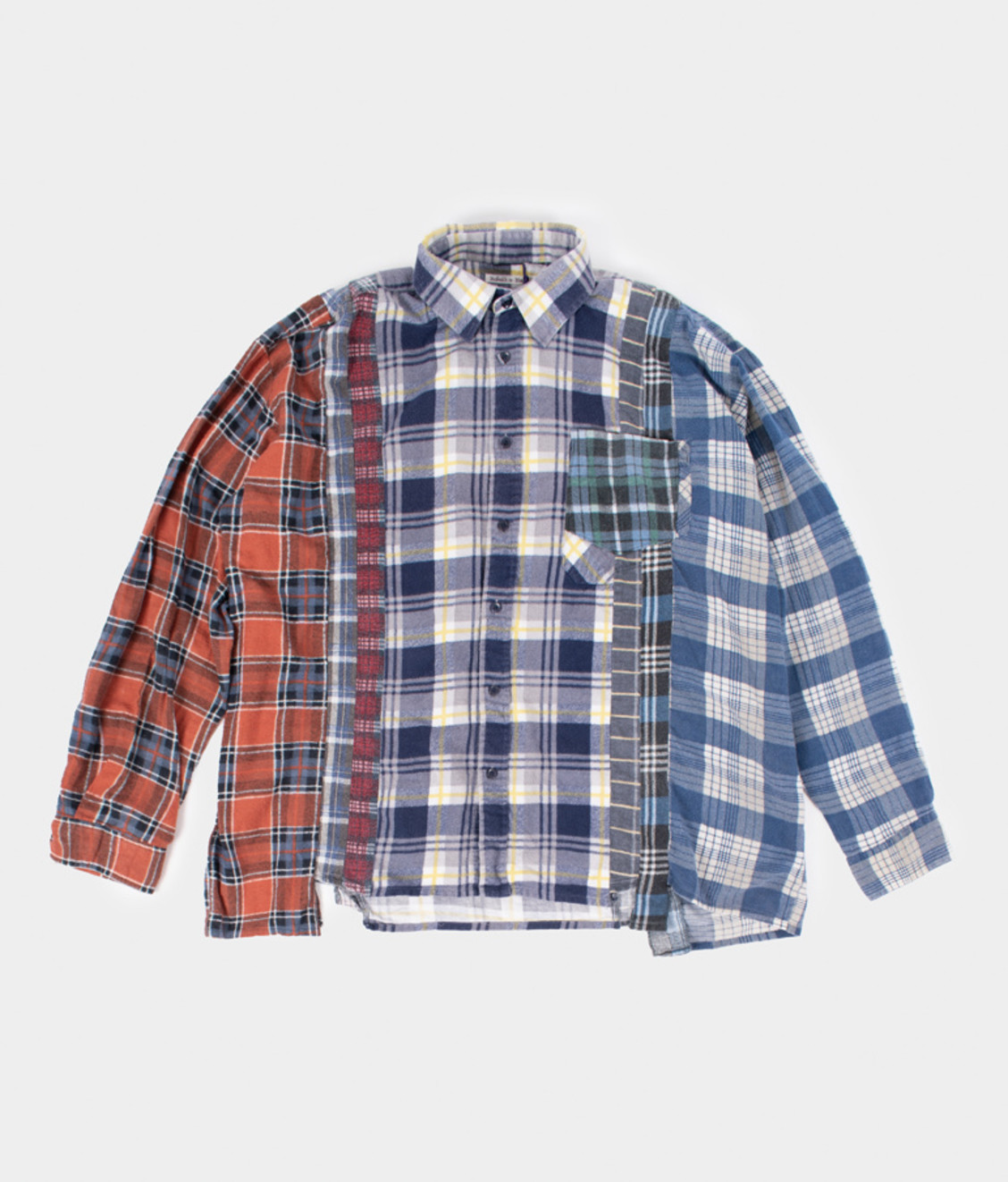 Needles Rebuild by Needles Flannel Shirt 7 Cuts Shirt Wide