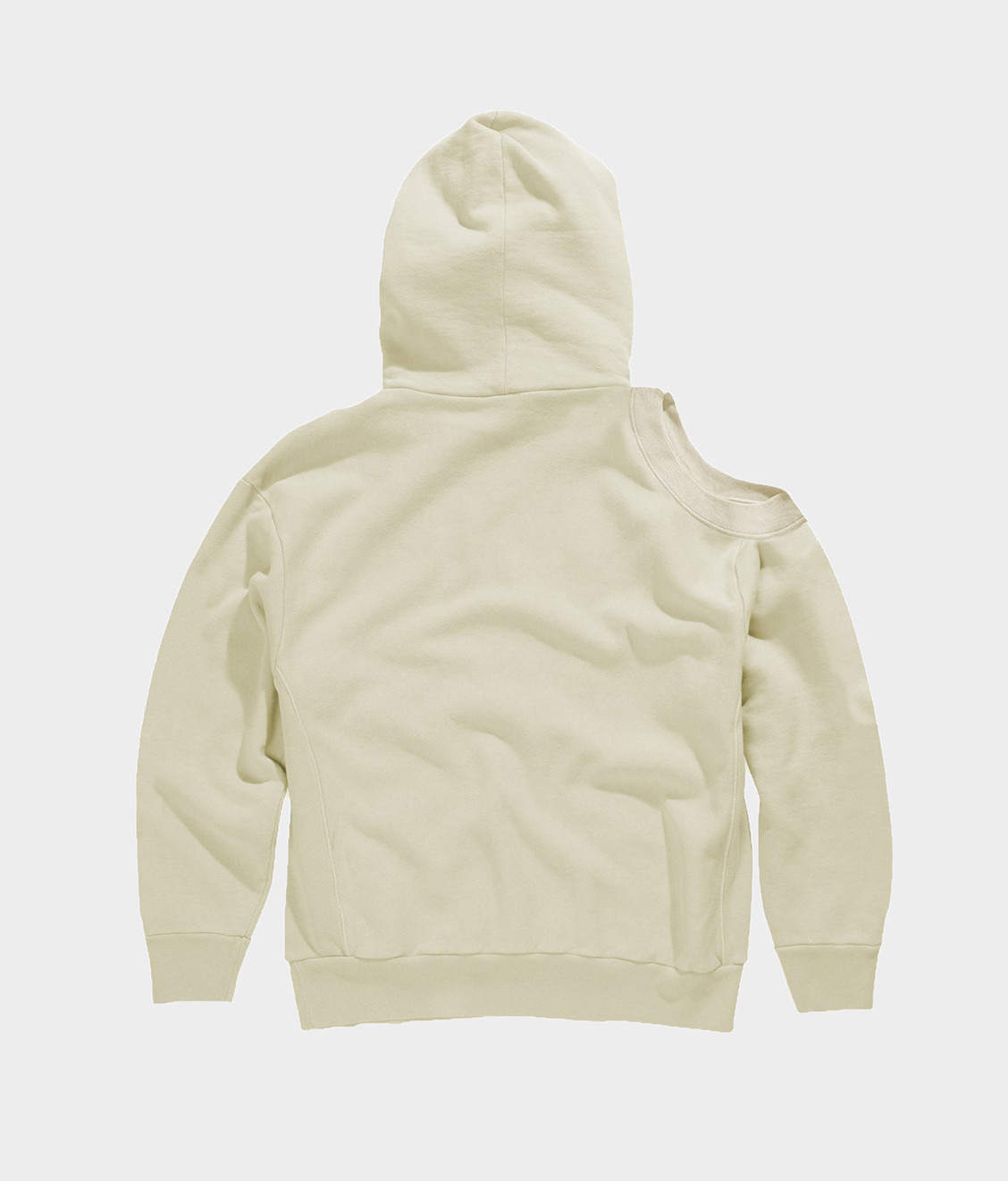 Aries Aries Shoulder Hole Hoodie Alabaster