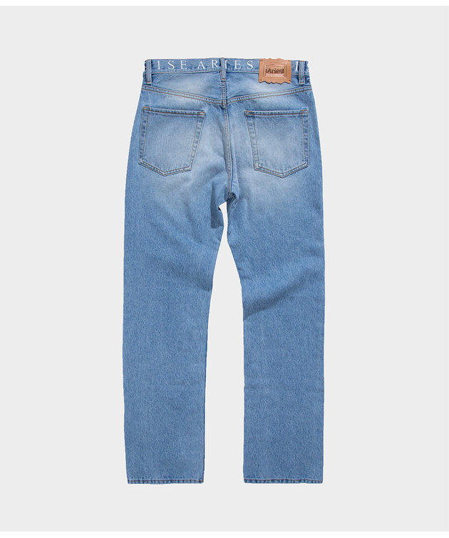 Aries Aries Logo Lilly Jeans Light Wash