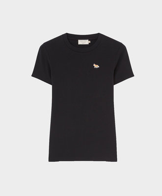 Maison Kitsune Kitsune Fitted Tee Profile Fox Patch Black