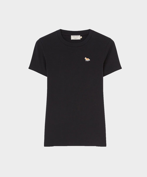 Kitsune Fitted Tee Profile Fox Patch Black