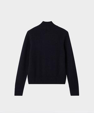 Maison Kitsune Kitsune High Collar Pullover Black