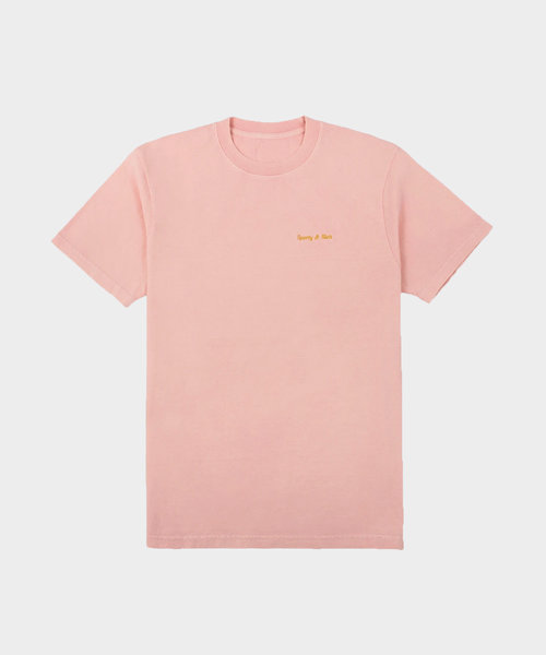 Sporty & Rich Classic Logo Tee Powder Pink