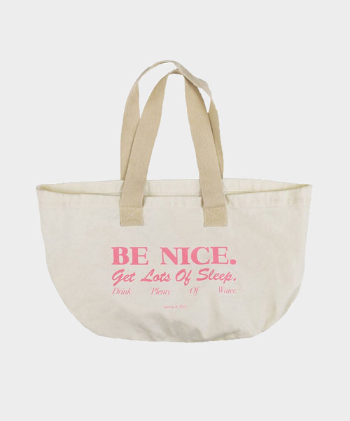 Sporty & Rich Be Nice Tote Natural