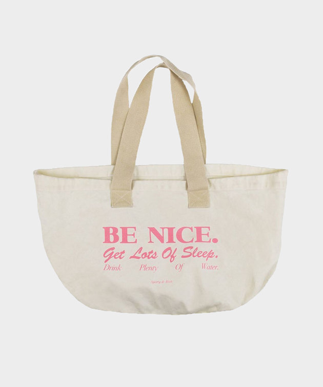 Sporty and Rich Sporty & Rich Be Nice Tote Natural