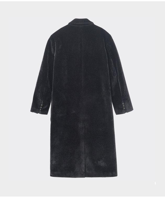 NEUL Neul Winter Bear Slim Long Coat Black