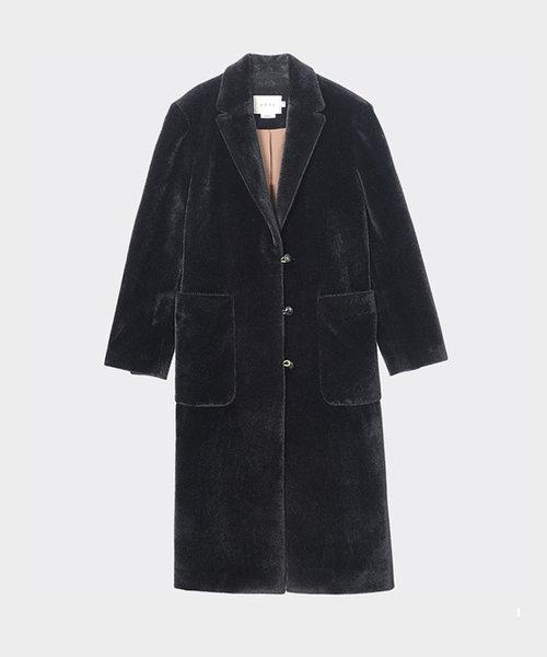 Neul Winter Bear Slim Long Coat Black