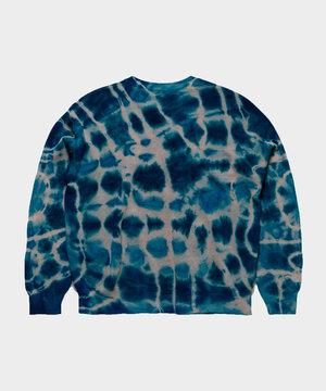 Aries Aries No Problemo Tie Dye Jumper Knit Multi Blue