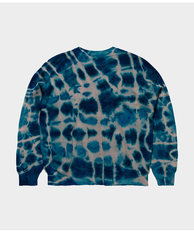 Aries Aries No Problemo Tie Dye Jumper Knit Multi Blue