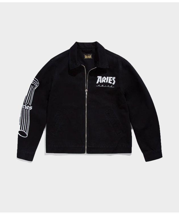Aries Aries Column Zip Through Jacket Black