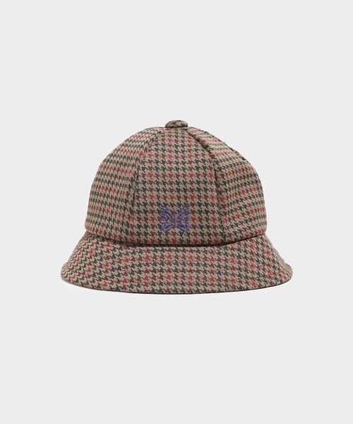 Needles Bermuda Hat Poly Jq. Houndstooth
