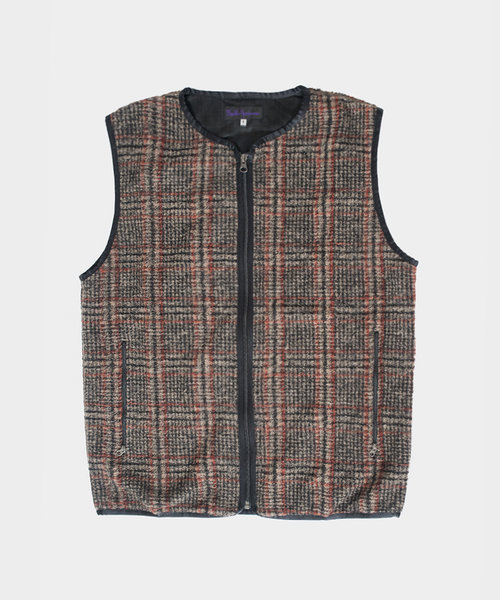 Needles Sportswear W.U. Piping Vest Plaid