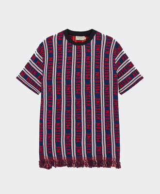 Maison Kitsune Kitsuné All-Over Tee Navy