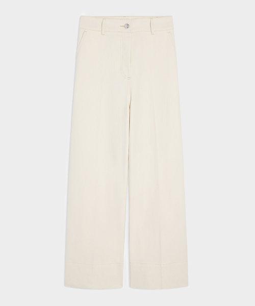 Kitsuné Large High Waisted Pants Ecru