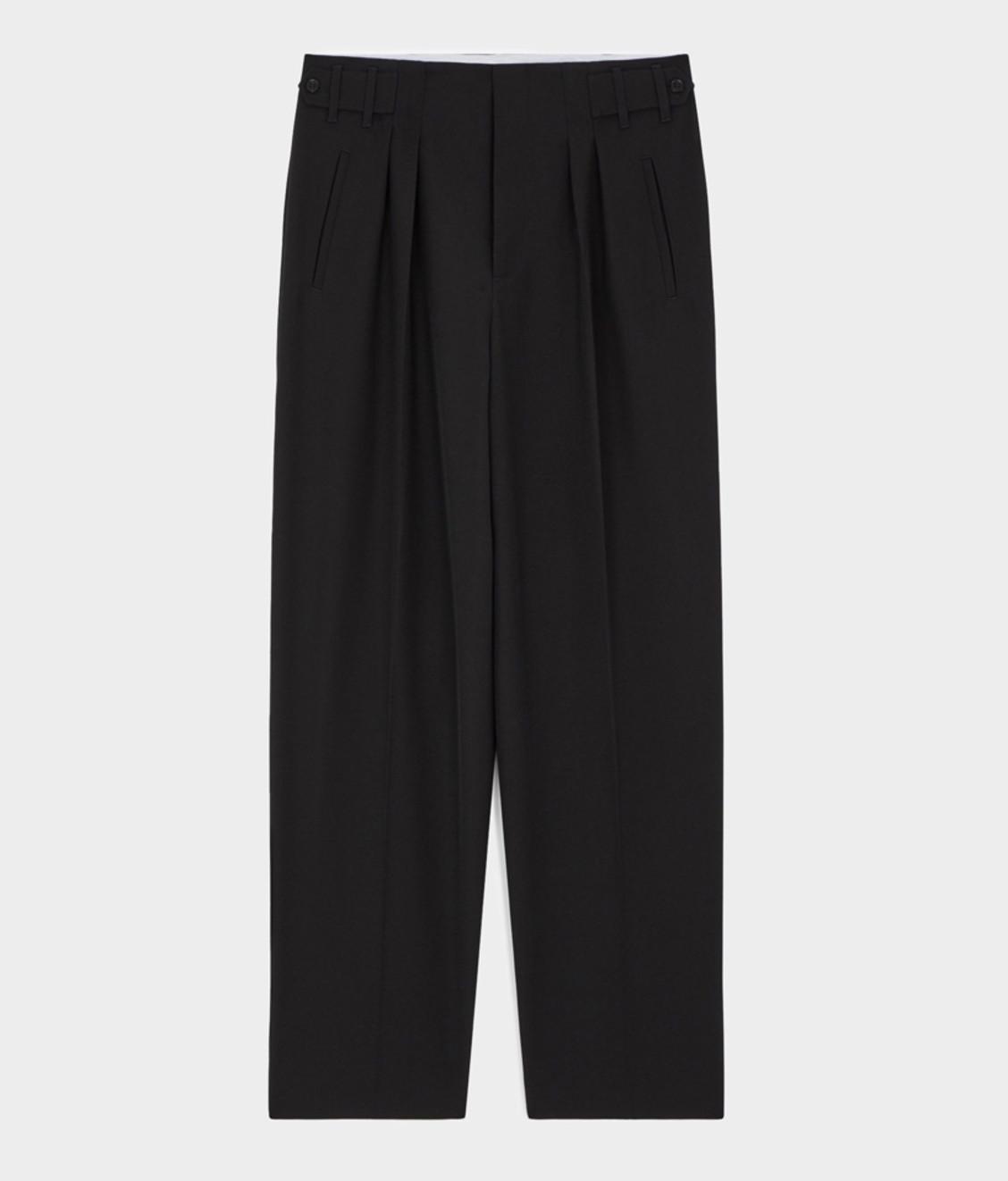 Maison Kitsune Kitsuné Pleated Pants Black