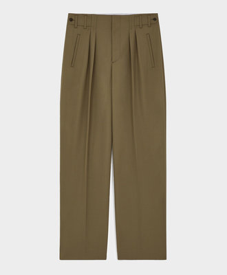 Maison Kitsune Kitsuné Pleated Pants Light Khaki
