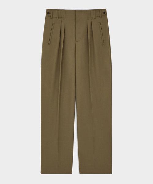 Kitsuné Pleated Pants Light Khaki