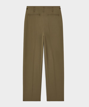 Maison Kitsune Kitsuné Pleated Pants Light Khaki