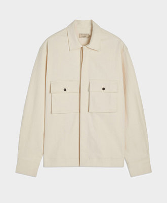 Maison Kitsune Kitsuné Hidden Placket Shirt Ecru