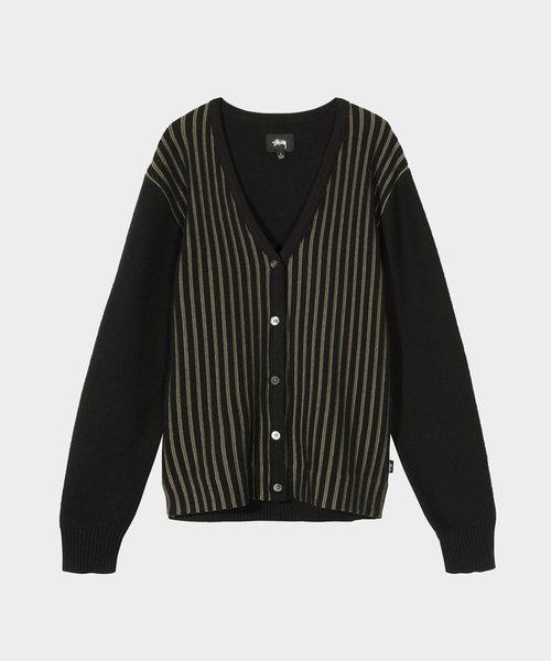 Stussy Stripe Cardigan Black