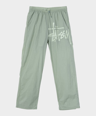 Stussy Stussy Nylon Warm Up Pant Sage