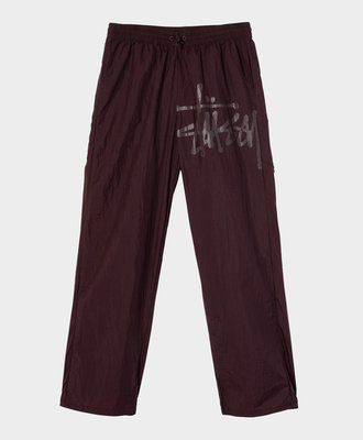 Stussy Stussy Nylon Warm Up Pant Eggplant