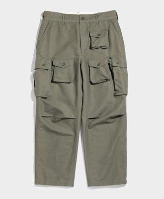 Engineered Garments FA Pant Olive Cotton