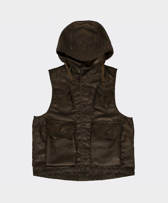 Engineered Garments Field Vest Brown Poly
