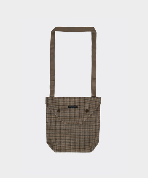 Shoulder Pouch Brown Wool