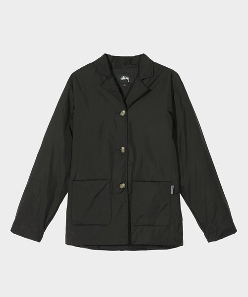 Stussy Light Fill Nylon Sport Jacket Black