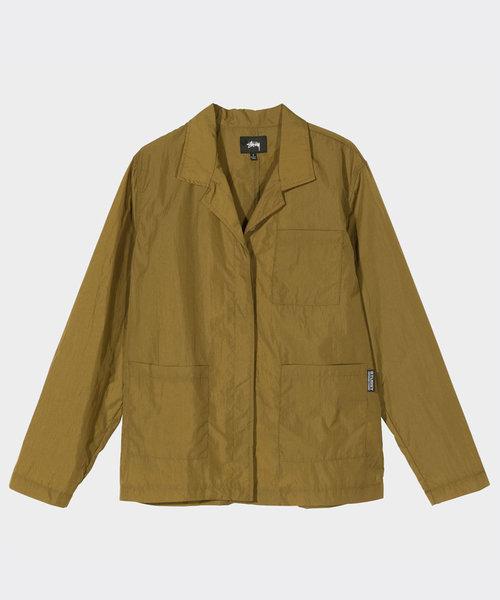 Stussy Nylon Chore Shirt Khaki