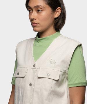 Stussy Stussy Canvas Work Vest Natural